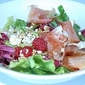 Raspberry, parma ham and feta salad