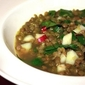 Lentil Soup with Swiss chard and Sunchokes