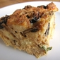 Recipe: Roasted wild mushroom bread pudding with bacon