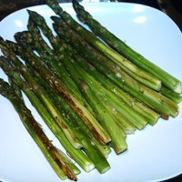 Roasted Asparagus and Parmesan