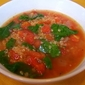 Quinoa Soup with Spinach and Tomatoes