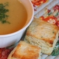Lentil Soup with Fresh Parsley & Garlic Biscuits