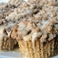 Streusel Coffee Muffins with Maple Glaze