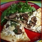 Goat Cheese Pizza with Arugula and Mushrooms