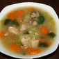 Chinese turkey & rice soup