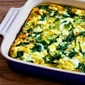 Breakfast Casserole Recipe with Spinach, Leeks, Cottage Cheese, and Goat Cheese