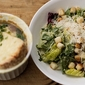 "Mexican ""Caesar"" Salad and French Onion Soup"