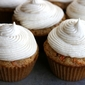 carrot cake cupcakes with vanilla mascarpone frosting