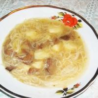 Грибной суп с вермишелью Recipe