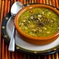 Recipe for Split Pea Soup with Ham, Bay Leaves, Epazote and Red Bell Pepper (or Carrots)