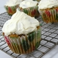 Tuesdays With Dorie – 'All In One' Holiday Cupcakes with Cream Cheese Frosting