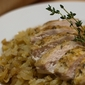 Roasted Mustard Chicken Breasts Recipe with Sauteed Cabbage