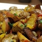 Pan Roasted Sausage, Peppers, Onions, and Potatoes