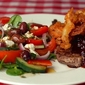 Recipe Revisit: Prime Rib Steak with Partridgeberry Pepper Red Wine Sauce and Tempura Red Onions