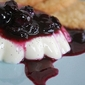 Vanilla-Bean Panna Cotta with Blueberry Compote . . .