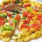 "Tri-Color Bell Peppers Omelette - rainbow diet or ""traffic light'"""