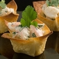 Shrimp Salad in Wonton Cups