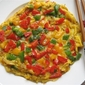 Tri-Color Bell Peppers Omelette