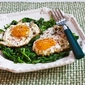 Recipe for Eggs Fried in Olive Oil with Wilted Greens and Sumac