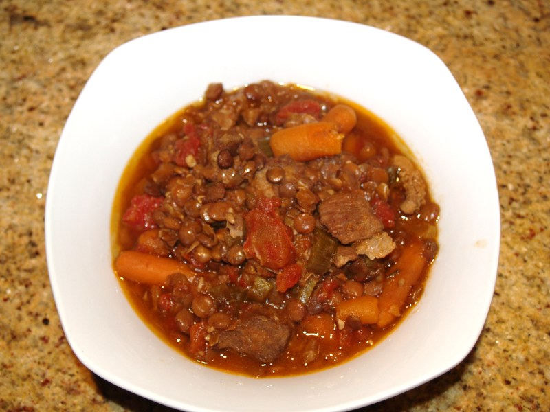 Lentil and Pork Cassoulet Recipe by Nancy - CookEatShare