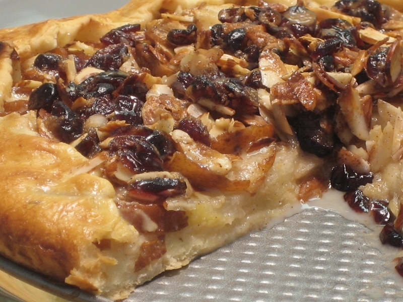 RUSTIC PEAR TART WITH A CRANBERRY-ALMOND TOPPING & BUTTERSCOTCH ...