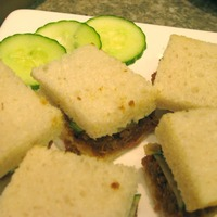SAMBAL & CUCUMBER FINGER SANDWICHES