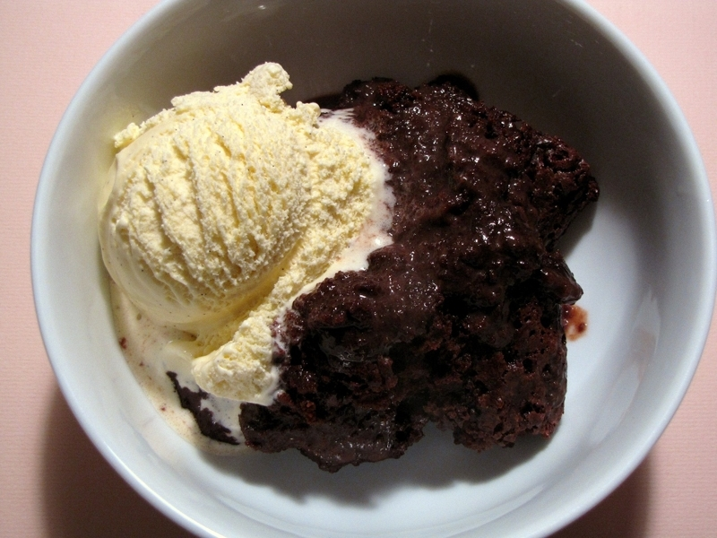 Hot Chocolate Pudding Cake with Ice Cream Recipe by Annie ...