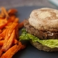 Black Bean Burgers & Sweet Potato Fries