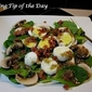 Recipe: Spinach Salad with Warm Bacon and Shallot Dressing