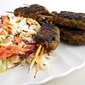 Grilled Lamb Koftas with Napa Cabbage Slaw