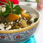 Tel Aviv lentil salad – Lentil and beet salad with arugula, feta and mint