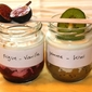 White smoothness in a jar – Fig-Vanilla and Apple-Kiwi yogurts