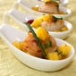 One spoon for me and two for you – Scallops with mango and blood orange vinaigrette