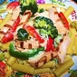Italian Rigatoni with Chicken, Broccoli, Garlic ,Peppers and EVOO
