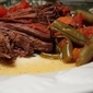 Italian Beef Roast with Burgundy Wine and Vegetables