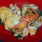 Shrimp and Spinach Gratin