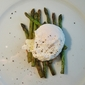 Pan-roasted Asparagus, Poached Egg and Miso Butter.