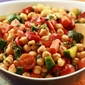 Chickpea Salad With Roasted Red Pepper and Harissa