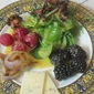 Warm Chanterelle and Berry Salad with Cheddar and some Chow-dah
