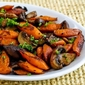 Recipe for Roasted Carrots and Mushrooms with Thyme
