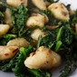 Gnocchi with Kale, Anchovies , Garlic & Chilli