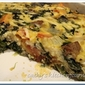 Crustless Tomato Basil Spinach Quiche
