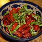 Plum tomatoes roasted with fresh basil