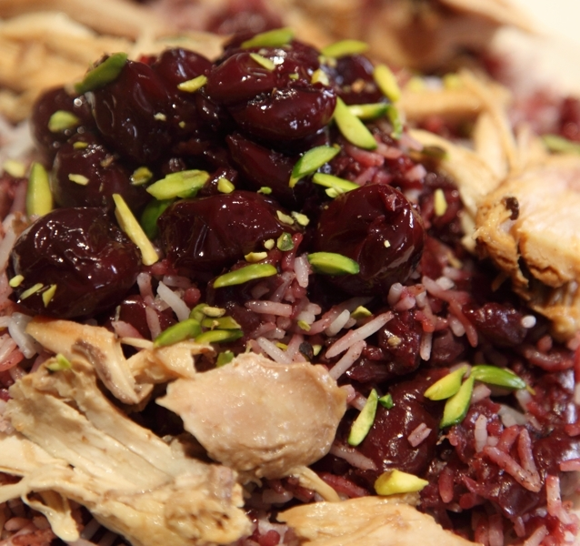 Rice with Sour Cherries (Albalu Polo) Recipe by Enzie - CookEatShare