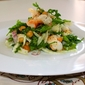 For the Sunday lunch – Arugula, Shrimp, fennel and chick pea salad