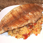 Grilled Catfish with Red Rice and Lemon Butter