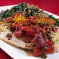 Orange-Scented Tilapia with Capers and Roasted Peppers