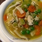 Homemade Chicken and Noodle Soup (with cheater noodles)