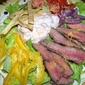 Beer Marinated Steak Salad with Spicy Salsa Dressing