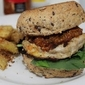 Chicken Burger with Tomato Kasandi Sauce